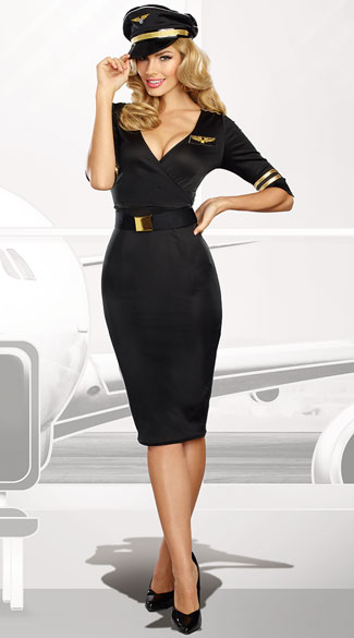 Flight Captain Captain Costume, Sexy Pilot Costume - Yandy.com