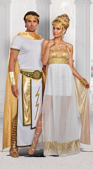 Greek Deities Couples Costume, Goddess Athena Costume, Sexy Goddess Costume - Yandy.com, Men\'s Zeus Costume, zeus costume, greek god costume, men\'s greek god costume, men\'s greek costume, sexy men\'s greek costume, sexy men\'s zeus costume