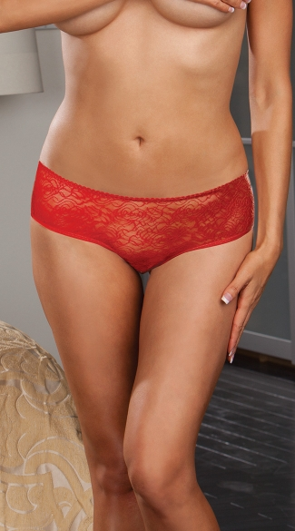 Plus Size Open Crotch Low Rise Panty