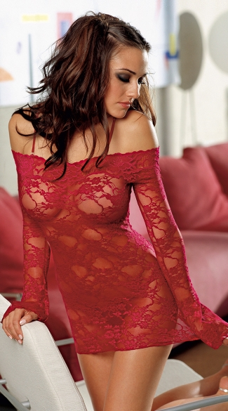 Bell Sleeved Chemise with Removable Straps