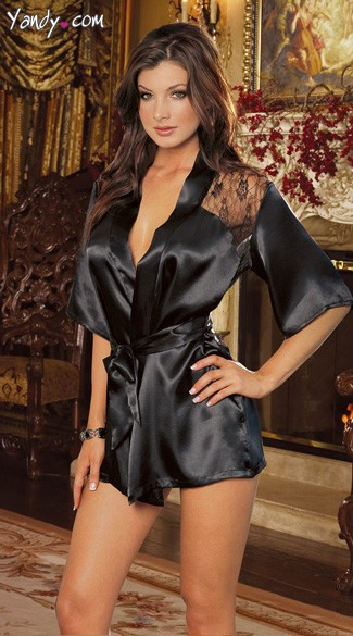 Charmeuse Robe and G-String