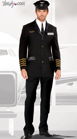 Mens Pilot Captain Costume