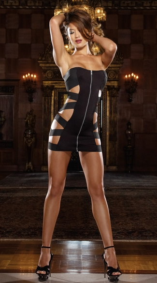 Elastic Band Mini Dress