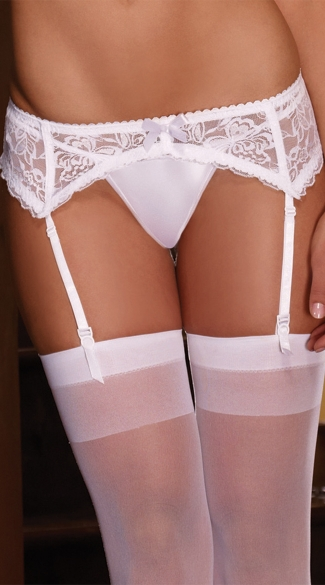 Scalloped Lace Garter Belt