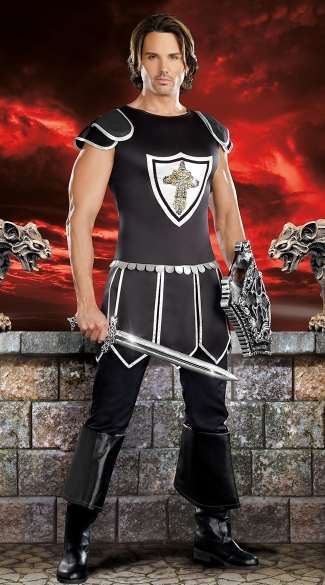 Mens One Hot Knight Costume, Mens Knight Costume, Male Knight Costume