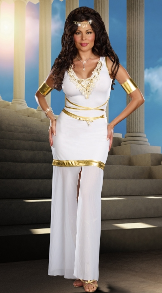 Plus Size Goddess Of Love Aphrodite Costume, Plus Size Aphrodite Costume, Plus Size Goddess Halloween Costume