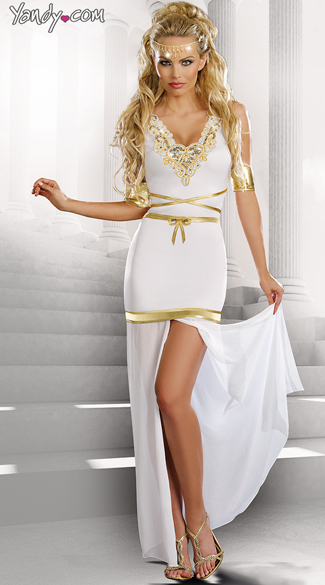 Goddess Of Love Aphrodite Costume, White Goddess Costume ...