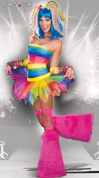 Kandi Kid Costume Rainbow Rave Costume Rave Halloween