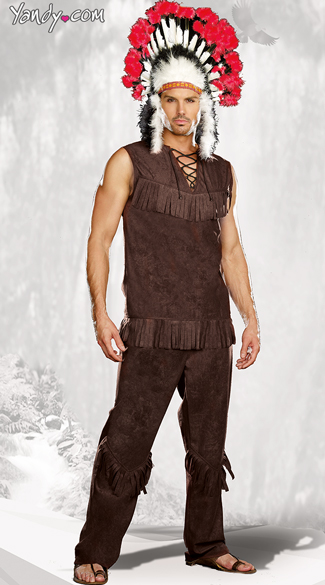 Chief Long Arrow Costume, Mens Indian Costume, Mens Native American Costume, Indian Chief Costume