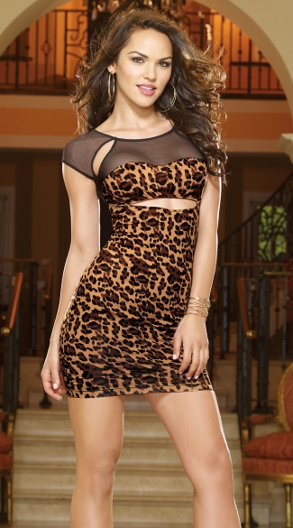 Columbia Animal Illusion Club Dress, Leopard Print Club Dress