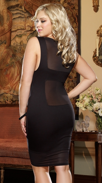 Plus Size Gin and Sin Illusion Club Dress