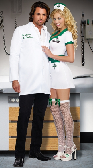 Alternative Medicine Couples Costume, Men\'s Dr. Bud Smoker Costume, Men\'s Stoner Doctor Men\'s Medical Marijuana Doctor Costume, Sexy Weed Doctor Costume, Cannabis Doctor Costume