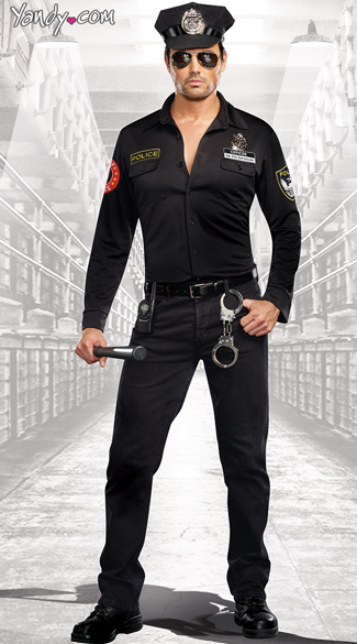 Sergeant Dick Spectacular Costume, Mens Dirty Cop Costume, Hot Cop Costume