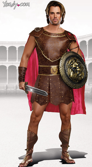 Men\'s Hercules Costume, Roman Soldier Costume, Roman Warrior Costume