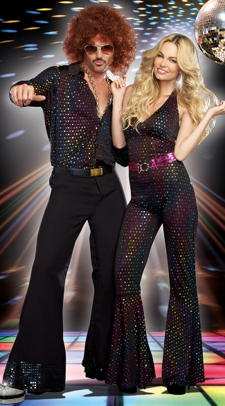 Studio 69 Disco Couples Costume, Men\'s Disco Stud Costume, 70s Costumes For Men, Disco Doll Costume, Disco Girl Costume, 70s Disco Costume for Women