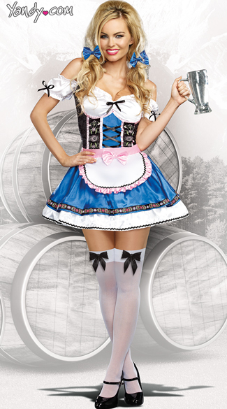 German Beer Beauty Costume, Oktoberfest Costume, Beer Maid Costume