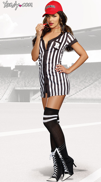 My Rules Referee Babe Costume Womens Referee Costume