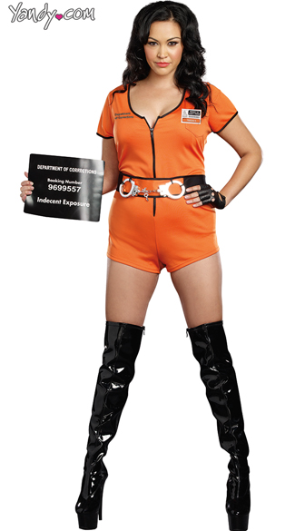 Plus Size Sexy Inmate Costume