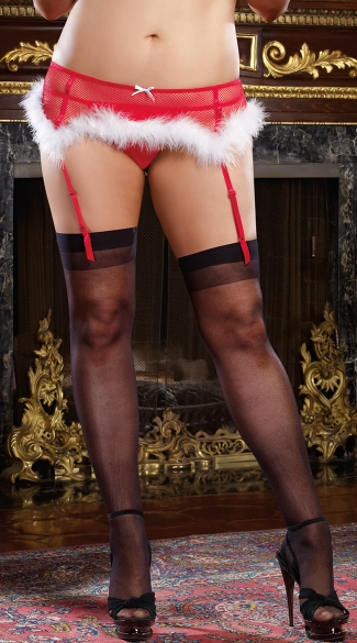 Plus Size Holiday Tease Garter Belt, Plus Size Women Lingerie, Plus Size Garter Belts Hosiery