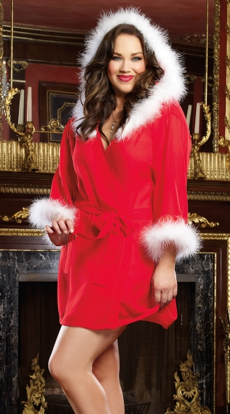 Plus Size Sexy Holiday Hottie Robe Plus Size Ladies Robe