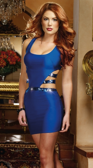 Sapphire Cut Out Bodycon Dress