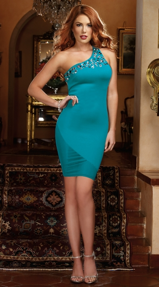 A Luxe Affair Single Shoulder Bodycon Dress