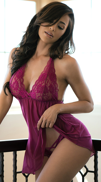 Ravishing Soft Lace Babydoll Set