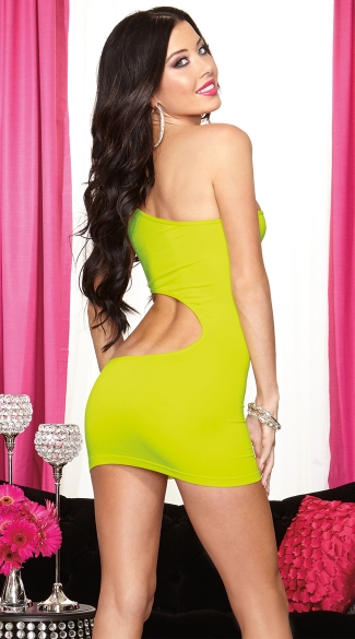 Asymmetrical Neon Party Dress