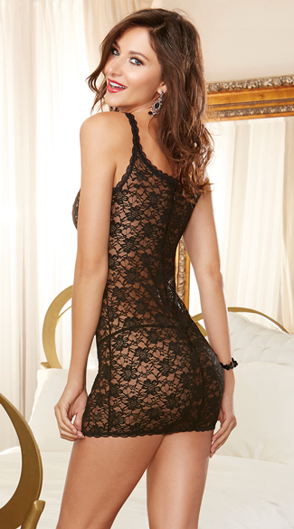 Sheer Lace Chemise and Panty