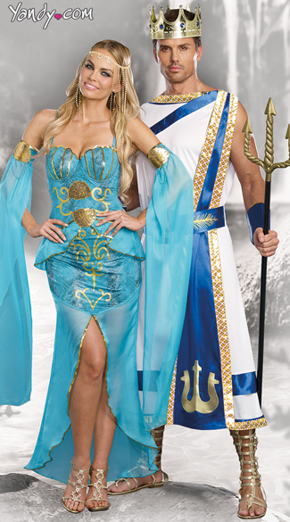 Sexy Sea Goddess Costume, Sexy Goddess Costume, Under The Sea Costume, Men\'s Poseidon Costume, Men\'s Greek God Costume, Merman Costume