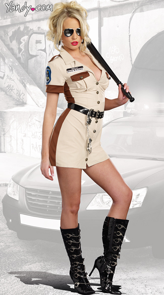Don\'t Stop Cop Costume, Sexy Highway Patrol Costume, Sexy Sheriff Costume