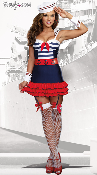 Sailor\'s Delight Costume, Sexy Navy Costume, Women\'s Sailor Costume