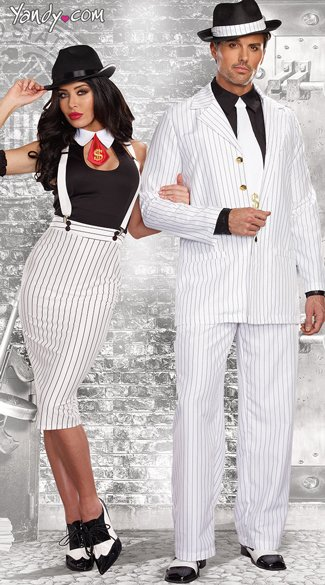 Dirty Work Gangster Costume, Sexy White Mobster costume, White Sexy Mafia costume, Zoot Suit Riot Costume, Mens Gangster Costume, Adult Mens Classic Gangster Costume
