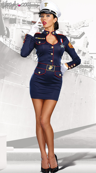 Take Charge Marge Costume, Sexy Navy Marine Costume, Navy Short Marine Costume