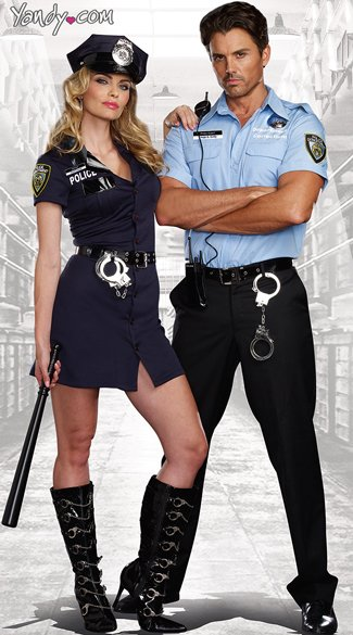 Officer Randi Stopsign Cop Costume