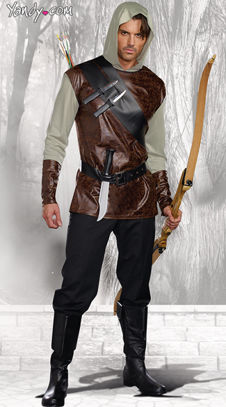 The Huntsman Costume, Men\'s Hunter Costume, Mens Fairytale Costume