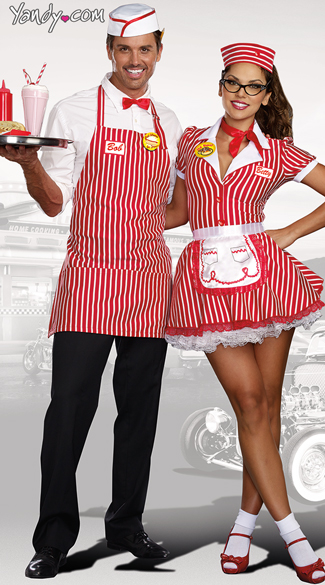 Diner Dude Costume Red And White Diner Costume Men S