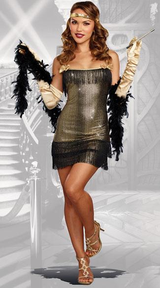 Shimmy Shake Flapper Costume Roaring 20 S Costume Yandy Com