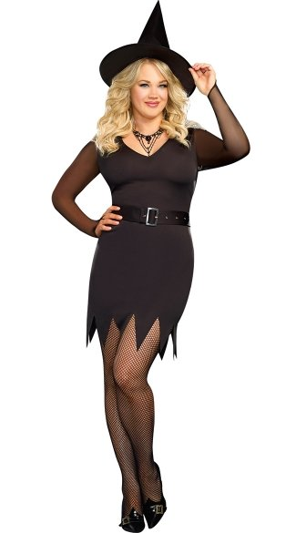 Plus Size Abracadabra Witch, Sexy Witch Costumes, Black Witch Halloween Costume