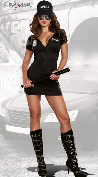 SWAT Police Costume, SWAT Dress Costume, Sexy SWAT Dress