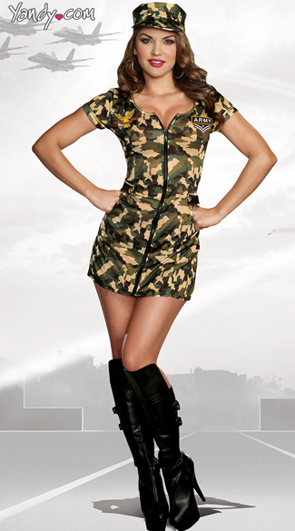 Army Doll Costume, Sexy Army Girl Costume, Sexy Military Costume