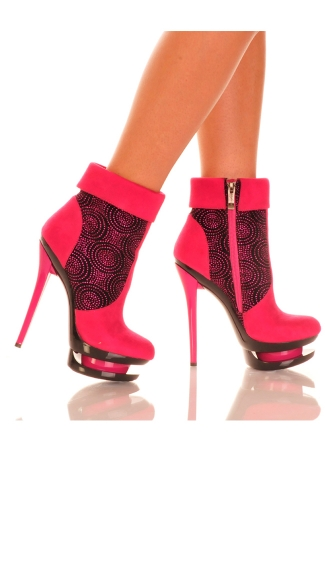Closed Toe Stiletto Bootie with Ankle Cuffs