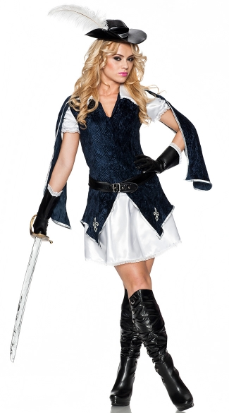 All For One Musketeer Costume, Three Musketeers Costume, Musketeer Halloween Costume