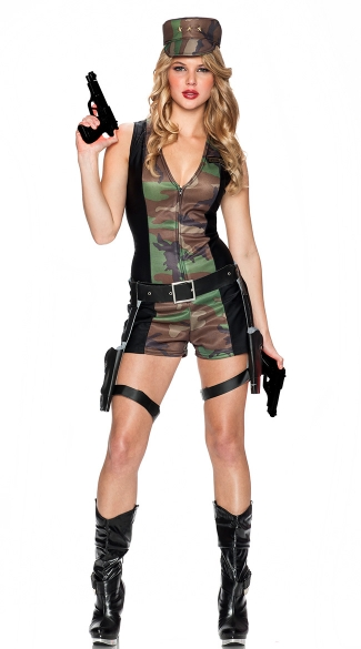 Special Ops Officer Costume, Military Girl Costume, Military Halloween Costume