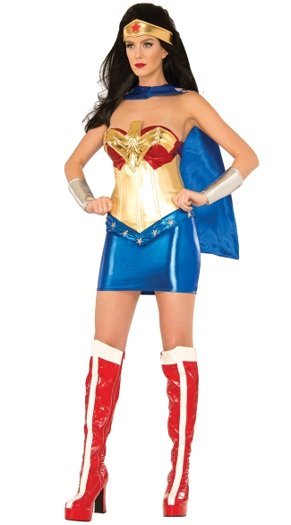 Wonder Woman Costume, Sexy Super Hero Costume, Sexy Wonder Women Halloween Costume