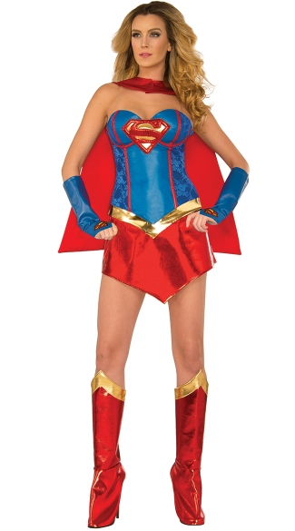 Sexy Supergirl Costume, Sexy Superman Costume, Sexy Superhero Costume