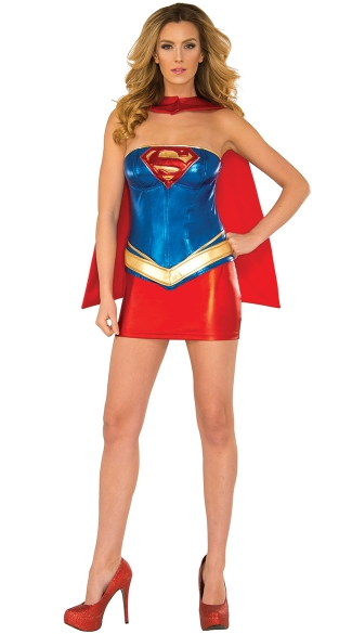 Sultry Supergirl Costume, Sexy Superhero Costume, Sexy Supergirl Costume