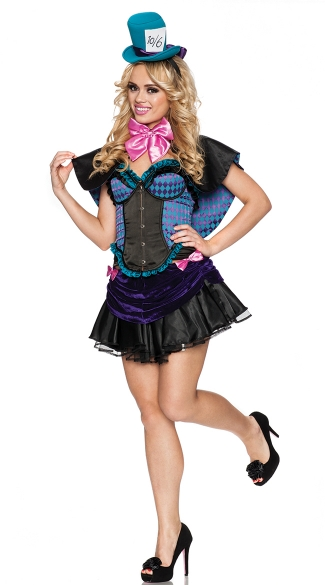 Mad Tea Party Cutie Costume, Mad Hat Wonderland Costumes, Wonderland Tea Party Costume