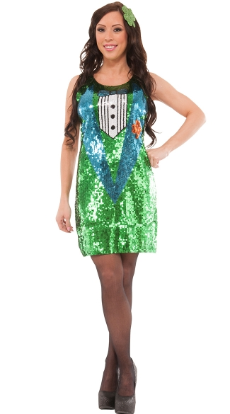 Sequin Luck O\' The Irish Costume, Sequin Irish Costume, Sequin St Patricks Day Costume