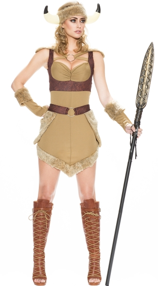 Viking Beauty in Command Costume